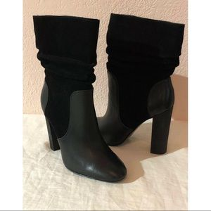 CHARLES DAVID Leather-Suede INDY Boots Black Sz 6